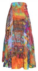 Wrapover jaipuri patchwork tie dye skirt jewel