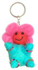 Flower Baby Key Ring Turquoise Body