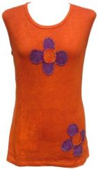 ***SALE*** Double Flower  Vest Top Rust
