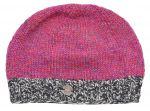 Half fleece lined - Heather mix - contrast edge - beanie - pink mix
