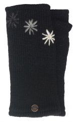 Fleece lined wristwarmer three star Black