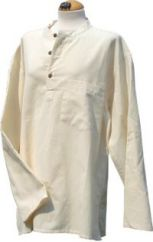 Heavy Weight Cotton Round Necked Shirt Natural