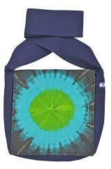 Sunburst long handled bag blue