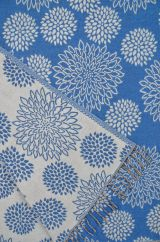 Chrysanthemum Blanket/shawl Blue