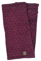Fleece lined wristwarmer tick Black currant