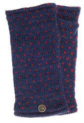 Fleece lined wristwarmer tick  Blue/Red