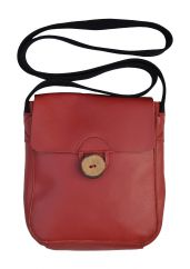 Pouch Bag Leather Red
