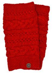 NAYA hand knit sampler wristwarmer Salsa