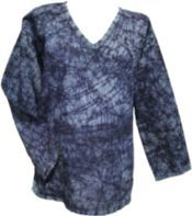 Crackle Dyed Top Black