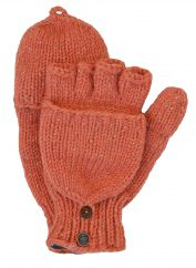 Fleece lined mitt sparkle apricot