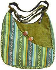 Adjustable handle gheri bag green