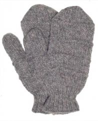 Fleece lined mittens  Ridge Mid Grey