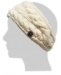 Fleece lined Headband Akuti Cable Cream