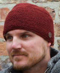 Airman's beanie  pure new wool dark red