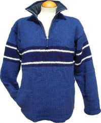 Fleece lined pull on broad stripe Blue