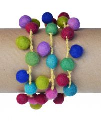 Cascade multi coloured felt  necklace/bracelet cream