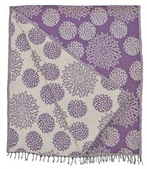 Chrysanthemum Blanket/shawl Berry