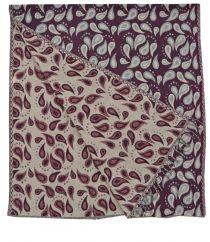 Drops Blanket Shawl Aubergene
