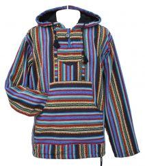 Gheri striped hooded pullon blue/multi coloured