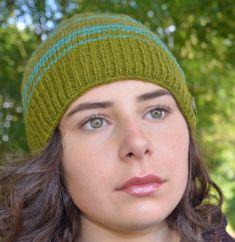 NAYA Pure wool half fleece lined Narrow stripes Green/turquoise