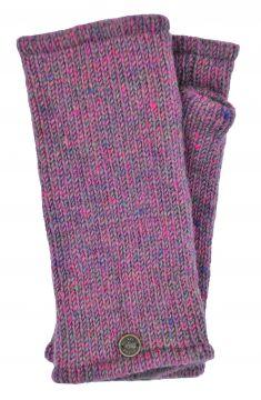 Fleece lined Wristwarmers heather mix  pink
