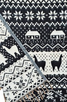 Christmas Blanket shawl Black/grey