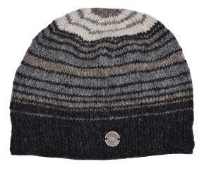 NAYA Pure wool half fleece lined Narrow stripes Natural greys