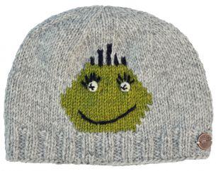 Hand knit pure wool face beanie Gemma